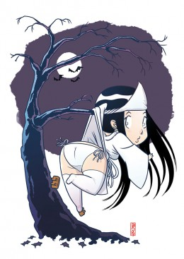 johan-neefjes-japanese-girl-in-tree-illustratie