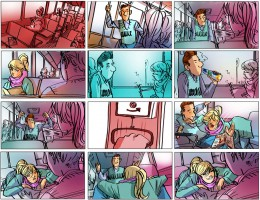 Storyboard door Emanuel Wiemans @ Roughmen voor Dubbelfris