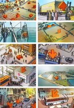Storyboard door Emanuel Wiemans @ Roughmen voor ING