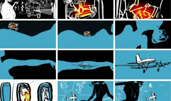 Shootingboard door Emanuel Wiemans voor een videoclip van The Spinshots