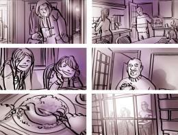 Storyboard door Emanuel Wiemans @ Roughmen voor Unox