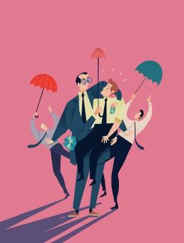 emanuel-wiemans-illustratie-mannen-met-paraplu