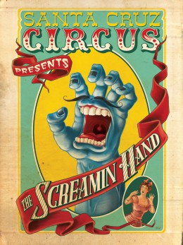 Sarina Reilingh Santa Cruz Circus Screamin hand illustratie