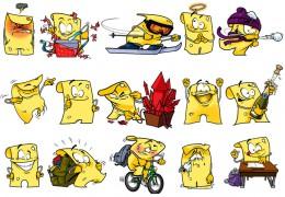 Raymond van der Plaat @ Roughmen TJIEZI characters emoticons