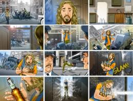 Perry Hamberg @ Roughmen storyboard Grolsch