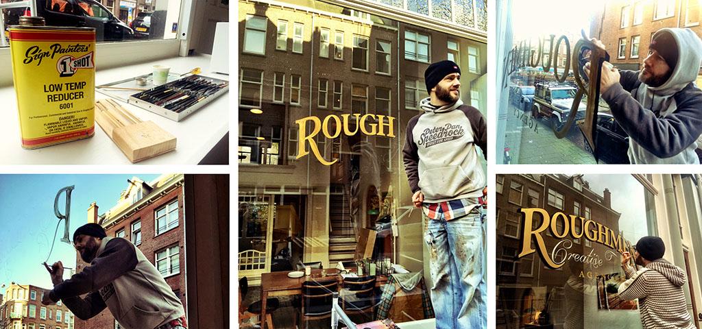 Ruben Ooms signpainting logo Roughmen