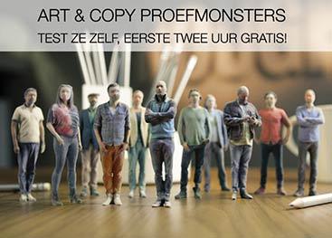 advertentie creatieven proefmonsters twee uur gratis